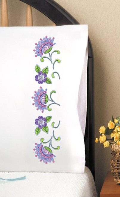 Design Works - Jacobean Pillowcase Pair