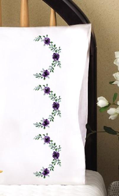 Design Works - Lilac Scallop Pillowcase Pair