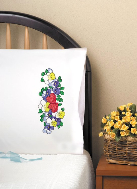 Design Works -  Two Hearts Pillowcase Pair