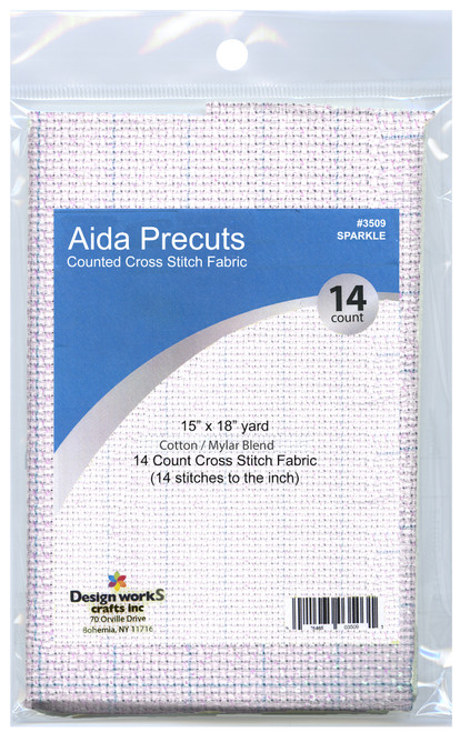 """Design Works - Gold Quality Sparkle 14 Count Aida Fabric 15"""" x 18"""""""