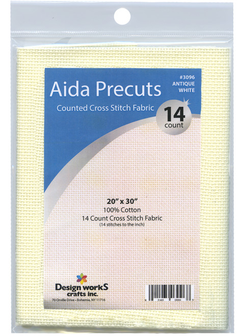 "Design Works - Gold Quality Antique White 14 Count Aida Fabric 20"" x 30"""