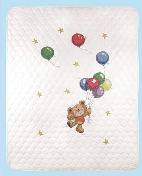 Janlynn - Bear With Balloons Quilt