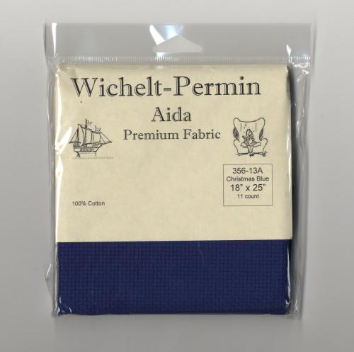 "Wichelt - 11 Count Christmas Blue / Royal Blue Aida 18"" x 25"""
