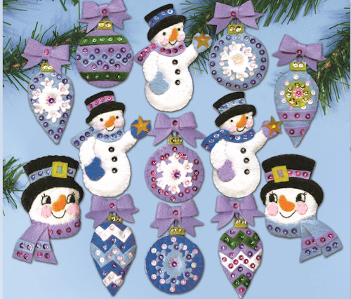 Design Works - Frosty Fun Felt Ornaments (13)
