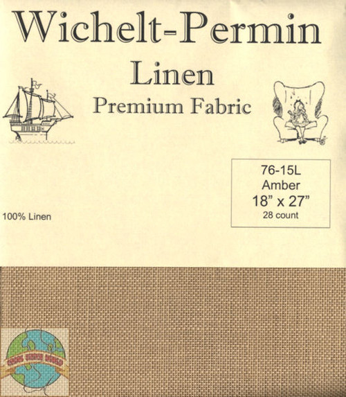 Wichelt - 28 Ct Amber Linen 18 x 27 in