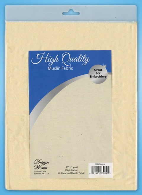 """Design Works - High Quality Natural Unbleached Muslin Fabric 45"""" x 36"""""""