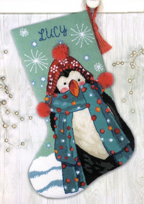 Dimensions - Fuzzy Penguin Stocking