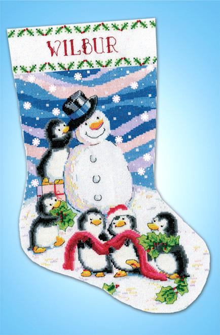 Design Works - Dressing Frosty Christmas Stocking
