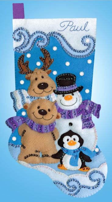 Design Works -  Winter Friends Stocking