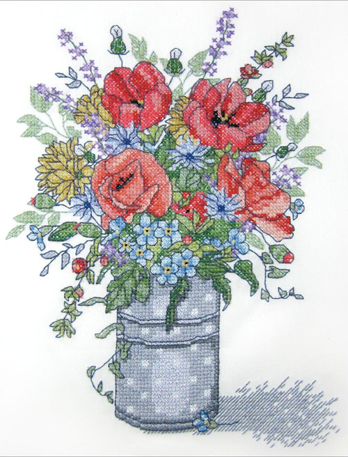 Janlynn - Poppies In A Vase