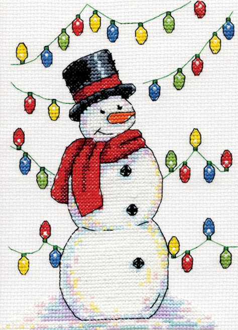 Design Works - Snowman with Lights