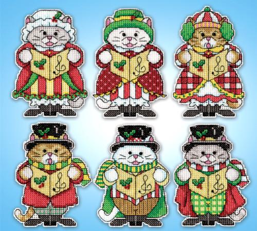 Design Works - Kitty Carollers Ornament Set (6)