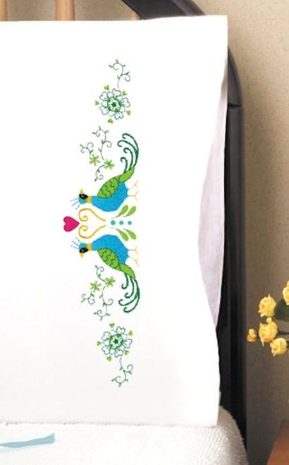 Design Works -  Peacock Pillowcases