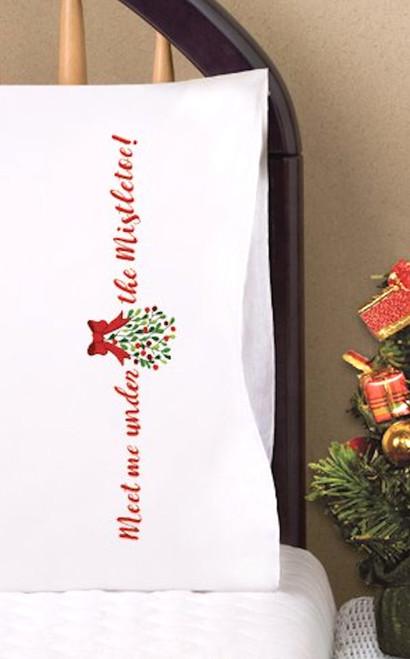 Design Works -  Mistletoe Pillowcases