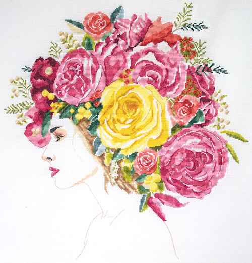 Design Works -  Flowers in Her Hair