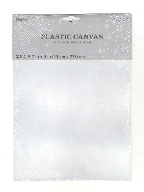 "Darice - 2 Pack of Clear Plastic Canvas 14 Count 8.2""  x 11"""
