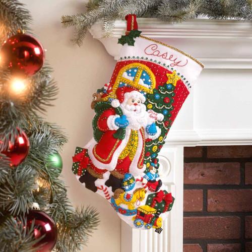 Plaid / Bucilla - St. Nick's Visit Christmas Stocking