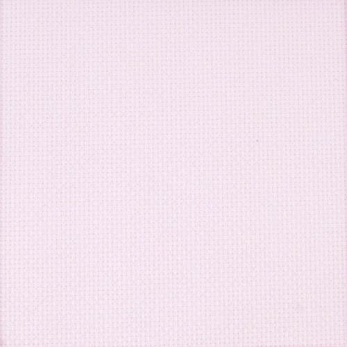 "DMC / Charles Craft Iridescent Pink 14 Count Aida Fabric - 15"" x 18"""