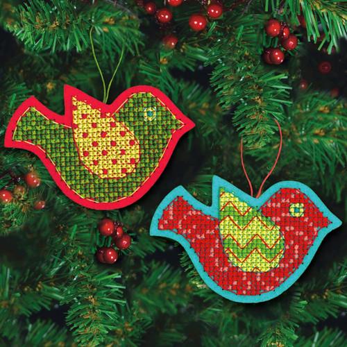 Dimensions - Set of 2 Jolly Bird Ornaments