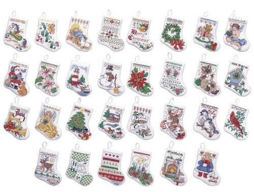 Plaid / Bucilla - Tiny Stockings Ornaments