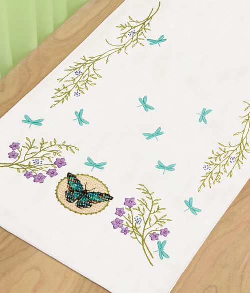 Dimensions - Butterfly Meadow Dresser Scarf