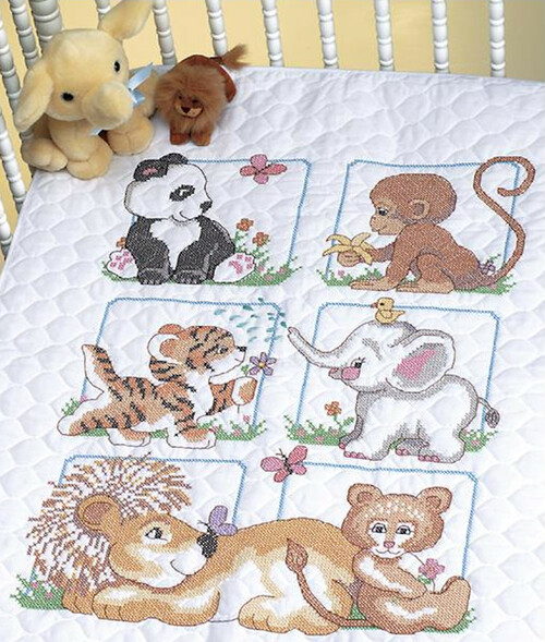 Dimensions Baby Hugs - Animal Babies Quilt