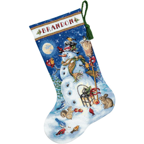 Gold Collection - Snowman & Friends Stocking