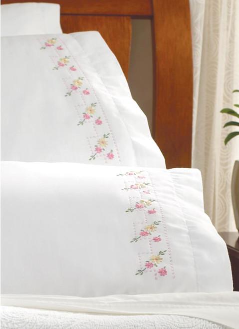 Plaid / Bucilla - Pretty Posies Pillowcases (2)