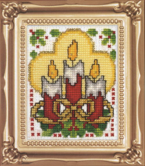 Design Works - Candles Picture Kit with Frame
