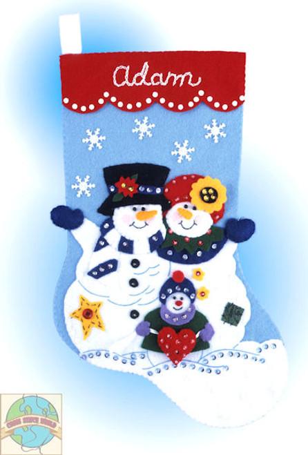 Design Works - Snowman Family Felt Stocking