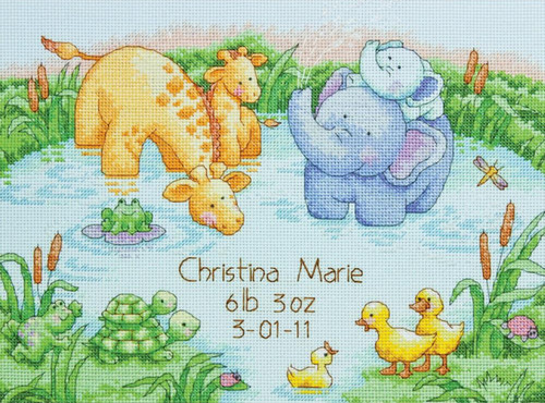 Dimensions Needlecrafts Stamped Cross Stitch Little Pond Bibs