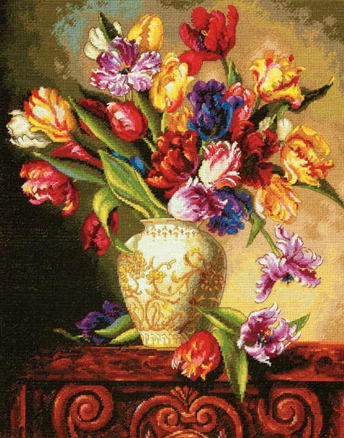 Dimensions Gold Collection Counted Cross Stitch Kit Peonies /& Delphiniums 12X15