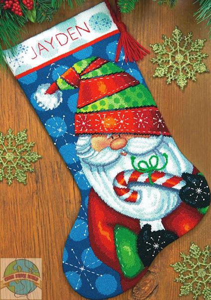 Dimensions 9143 Happy Snowman Stocking Needlepoint Kit Stitch