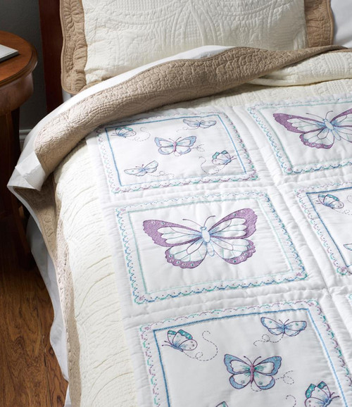 Plaid Bucilla Butterfly Quilt Blocks 6