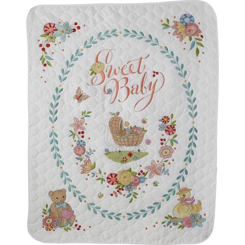 Plaid Bucilla Sweet Baby Crib Cover Quilt