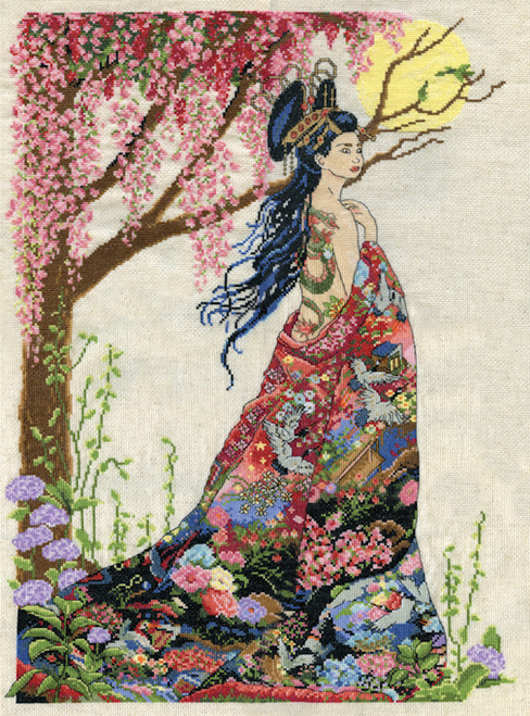 Counted Cross Stitch Kit Embroidery People Fairy lady women girl oriental cultur