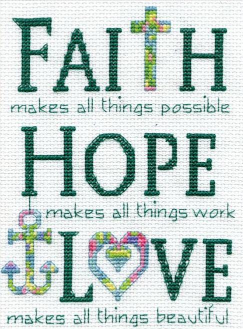 Design Works Faith Hope Love Crossstitchworld