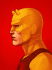 Mondo Daredevil (Yellow Suit) Mike Mitchell Portrait Giclee Proof