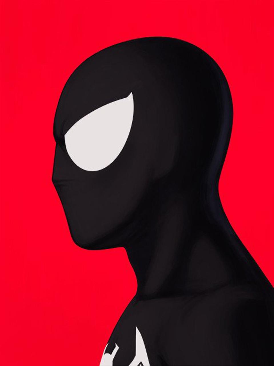 Mondo Black Suit Spider-Man Mike Mitchell Portrait Giclee Proof