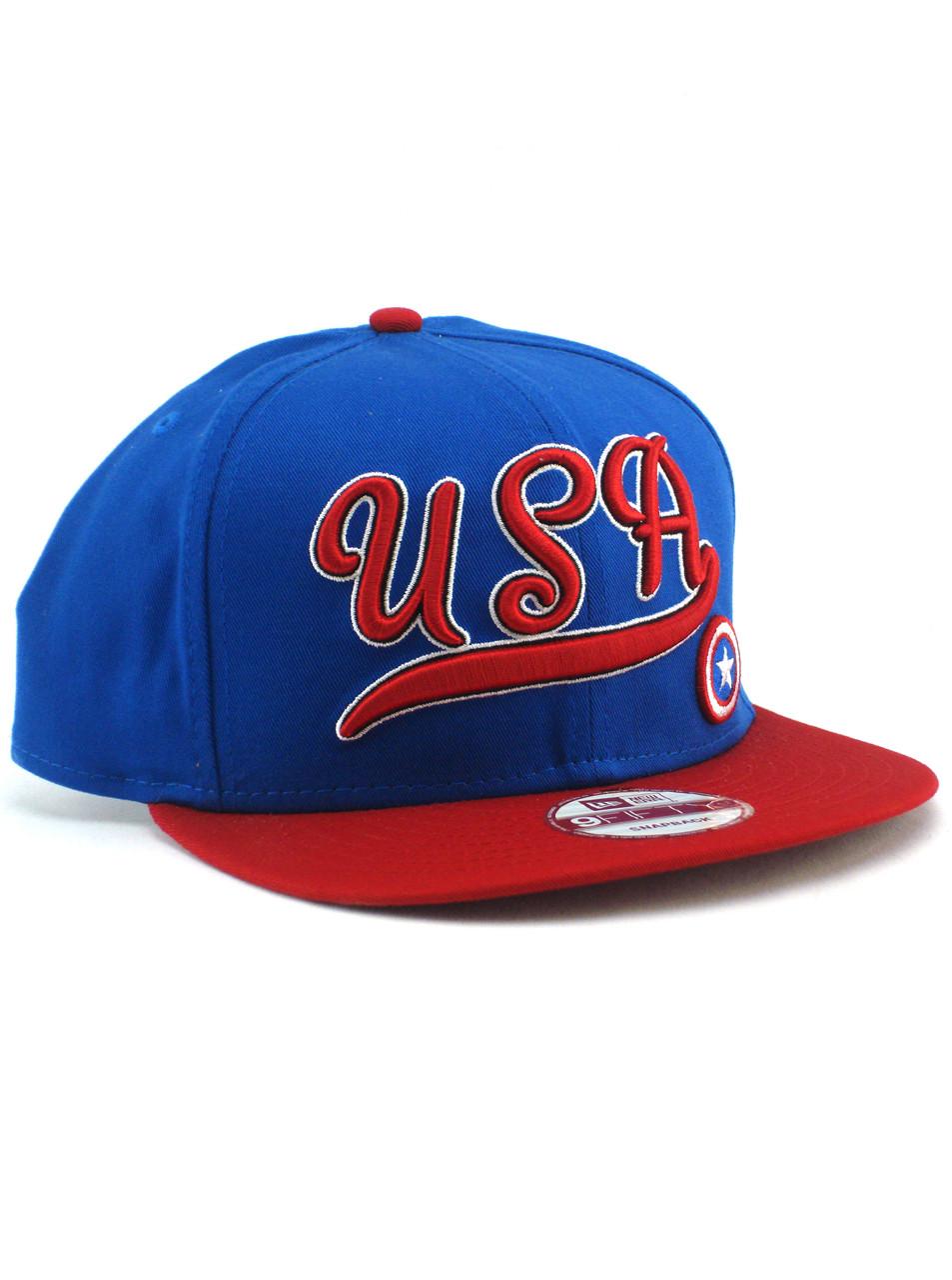 500486f811545 New Era USA Captain America 9fifty Snapback Hat View 1