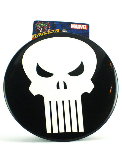 Ata-Boy Marvel Punisher Logo Giant Button With Easel View 1