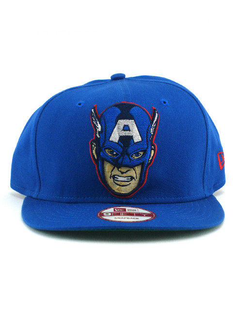 save off 27dad 2765b ... New Era Captain America Hero Face 9fifty Snapback Hat View 3 ...