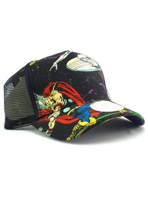 New Era Thor Vs Silver Surfer Trucker Hat View 1