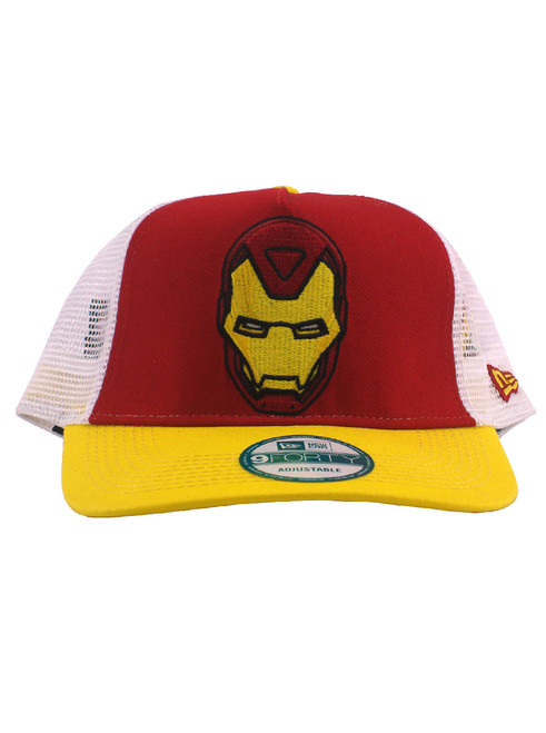 sports shoes aa948 d144e ... New Era Iron Man Mask 9forty Adjustable Trucker Hat View 3 ...