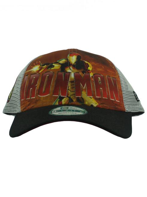 37d893e59d3 ... New Era Iron Man 3 War Machine 9forty Adjustable Trucker Hat View 3 ...