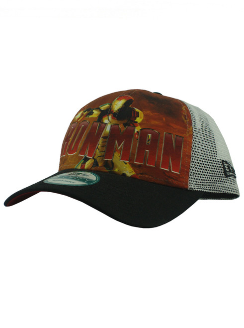 ... New Era Iron Man 3 War Machine 9forty Adjustable Trucker Hat View 2 ... 2b7b34ebbafa