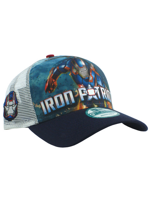 New Era Iron Man 3 Iron Patriot 9forty Adjustable Trucker Hat View 1