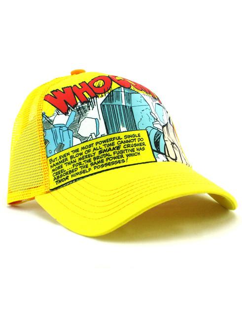 New Era Mighty Thor Hammer Trucker Hat View 1