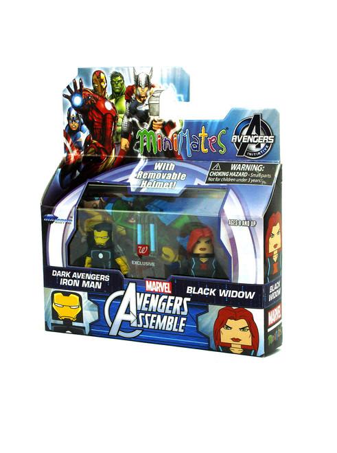 Marvel Minimates Walgreens Wave 2 Avengers Assemble Dark Iron Man /& Black Widow
