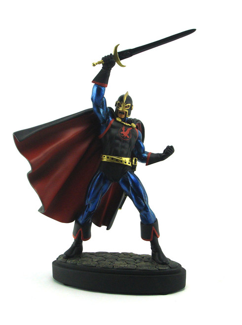 Bowen Designs The Black Knight Painted Statue Red Cape Version View 1